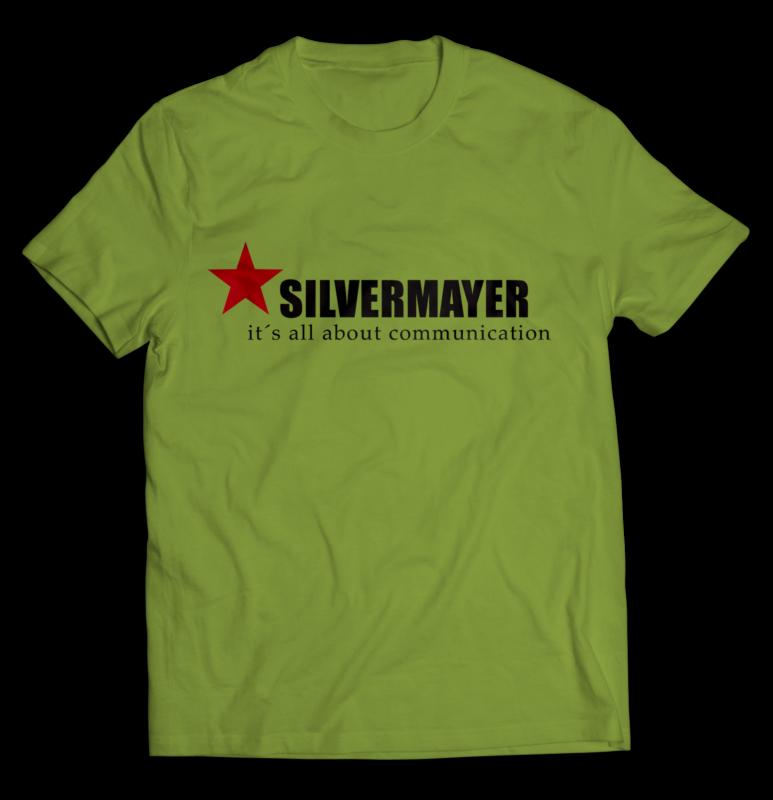 t-shirt med tryck i två färger, grön